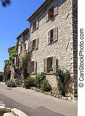 rural sandstone houses in Saint-Paul de Vence, Provence, France