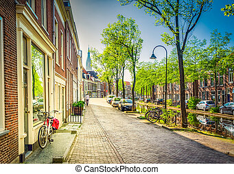 Delft old town in Holland