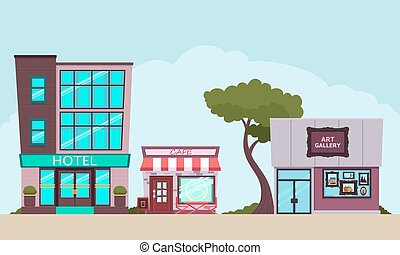 Small tourist town