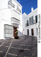 Street with white walls