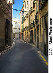 Street without people. - Street without people early in the ...