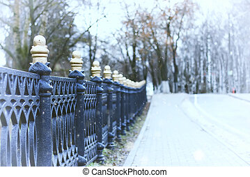 street wrought fence