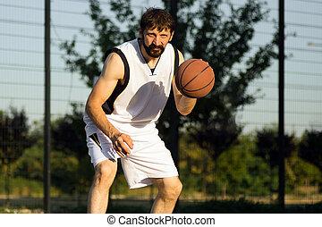 streetball basketball streetbasket - The basketball player...