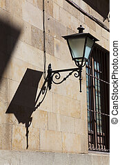 Streetlamp in Salamanca, Castilla y Leon, Spain