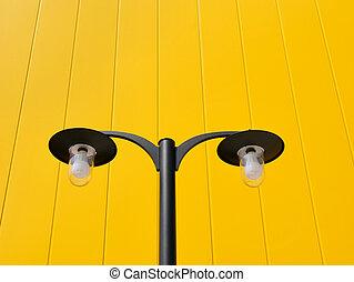 Streetlight and wall