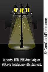 streetlight, illust, lanterna, noturna