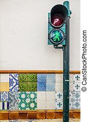 Streetlight in Ponta Delgada