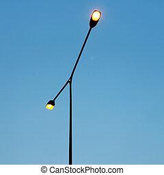 streetlight on beautiful sky background