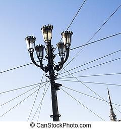 streetlights, in, torino