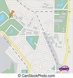 streetmap, genérico, vector, ciudad