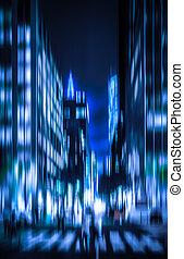 Streets of Manhattan at night