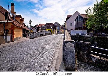 Streets of old Samobor town, Prigorje, Croatia