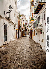 Streets of Old Town Ibiza