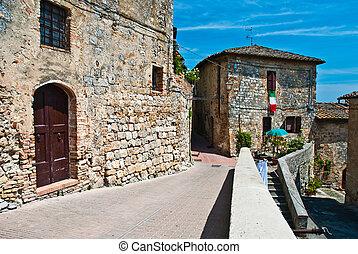 Streets of San Gimignano, landmark