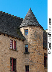 Streets of Sarlat, French medieval town