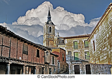 streets of the ancient city of Lerma in Spain