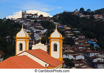 streets of the historical town Ouro Preto Brazil - streets...