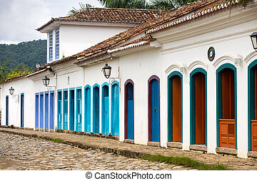 streets of the historical town Paraty