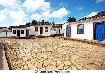 streets of the historical town Tiradentes Brazil - streets...