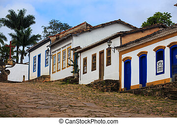 streets of the historical town Tiradentes, Brazil - streets...