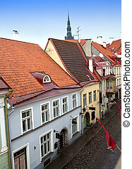 Streets of the Old City Tallinn, Estonia.