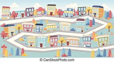 big colorful city