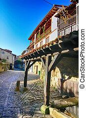 Streets typical of old world heritage village of Santillana del Mar, Spain