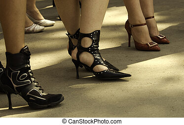 streetwalkers - sexy shoes, focus point on center of photo