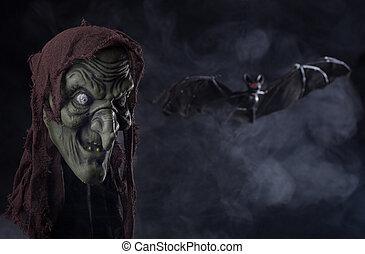 strega halloween, puntello