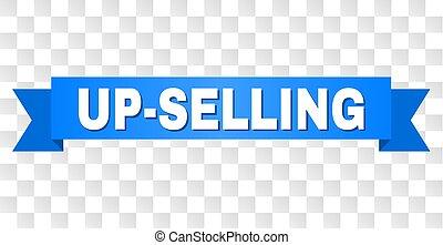 streifen, up-selling, text, blaues