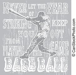 streik, fürchten, baseball