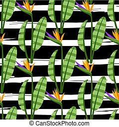 Strelitzia Seamless Pattern