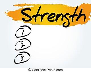 Strength blank list