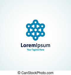 Strength molecule structure bond connection vector logo icon