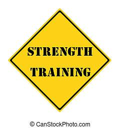 Strength Training Sign
