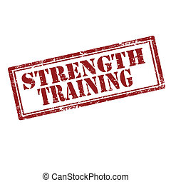 Strength Training-stamp - Grunge rubber stamp with text...