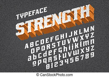 strength typeface font