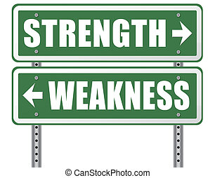 strength weakness - strength or weakness being strong or...