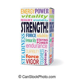 strength word on product box