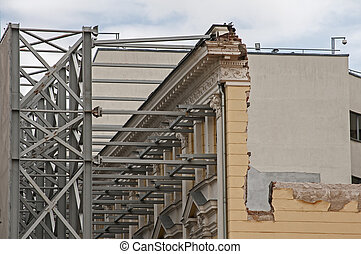 Strengthening of old building facade