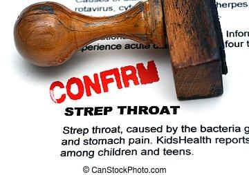Strep throat confirm