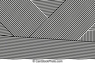 strepen, vector, ontwerp, zebra, black , witte