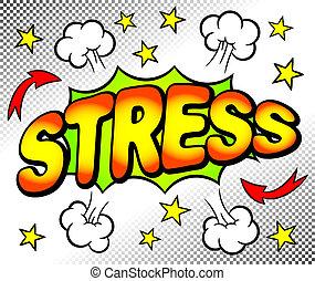 stres, bublina, dojem