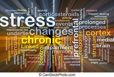 stres, pojem, mentální, grafické pozadí, nadšený