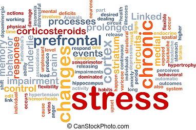 stres, pojem, mentální, grafické pozadí