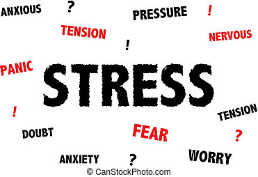 Stress and anxiety illustration - Stress and anxiety...