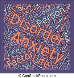 Stress and Anxiety What is Anxiety text background wordcloud concept