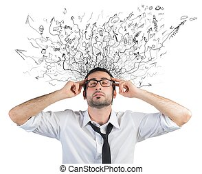 Stress and confusion - Concept of stress and confusion of a...