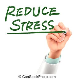 stress, arts, verlagen, woorden, schrijvende
