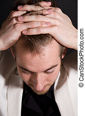 Stress businessman